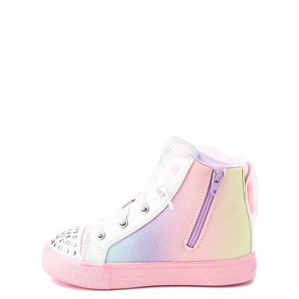 alternate view Skechers Twinkle Toes Shuffle Brights Rainbow Dust Sneaker - Toddler - Pastel MulticolorALT1B