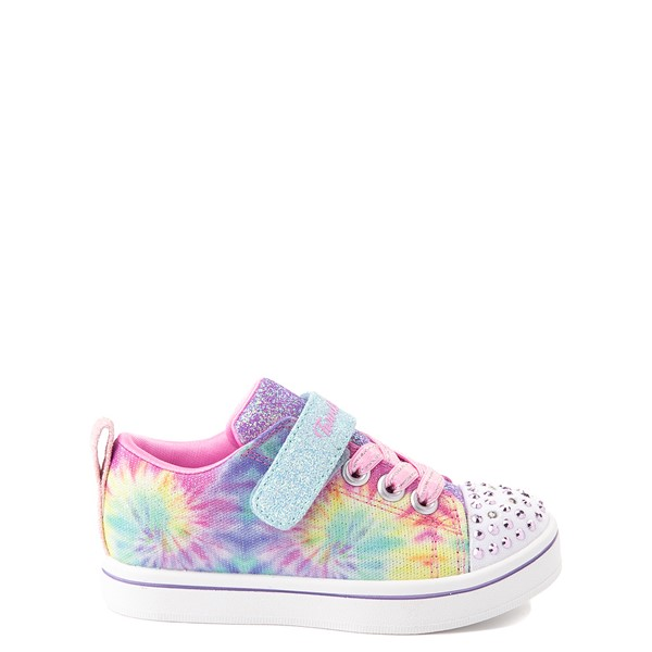 Main view of Skechers Twinkle Toes Sparkle Rayz Groovy Dreams Sneaker - Toddler - Tie Dye