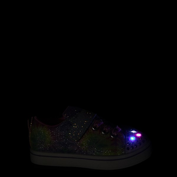alternate view Skechers Twinkle Toes Sparkle Rayz Groovy Dreams Sneaker - Toddler - Tie DyeALT1