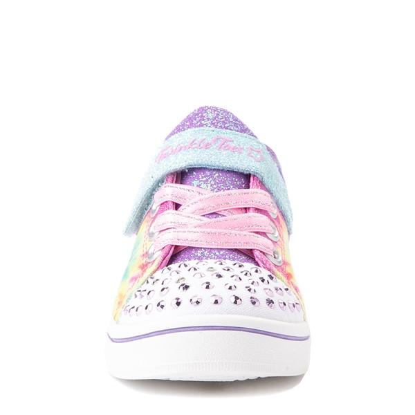 alternate view Skechers Twinkle Toes Sparkle Rayz Groovy Dreams Sneaker - Toddler - Tie DyeALT4