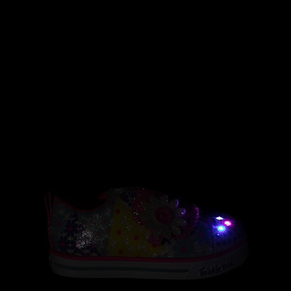 alternate view Skechers Twinkle Toes Sparkle Lite Super Bloom Sneaker - Toddler - MulticolorALT1