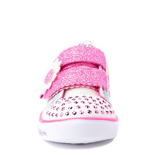 alternate view Skechers Twinkle Toes Sparkle Lite Super Bloom Sneaker - Toddler - MulticolorALT4