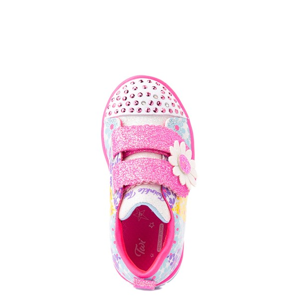 alternate view Skechers Twinkle Toes Sparkle Lite Super Bloom Sneaker - Toddler - MulticolorALT4B