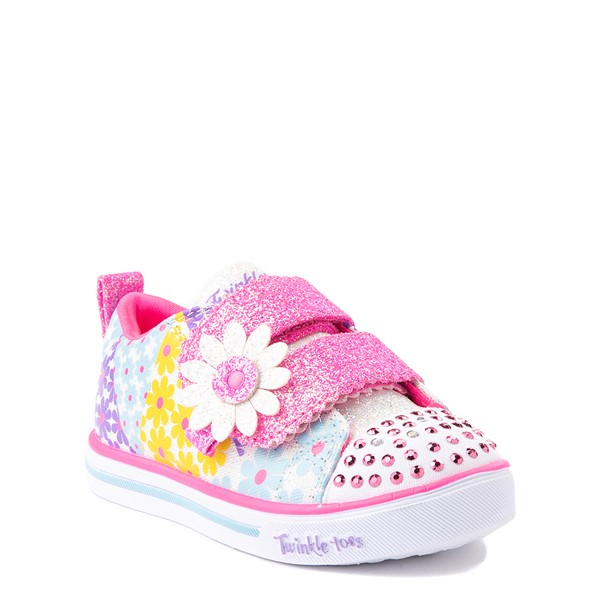 alternate view Skechers Twinkle Toes Sparkle Lite Super Bloom Sneaker - Toddler - MulticolorALT5