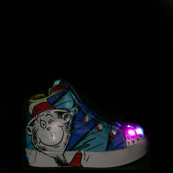alternate view Skechers x Dr. Seuss Twi-Lites Having Fun Sneaker - Toddler - BlueALT1