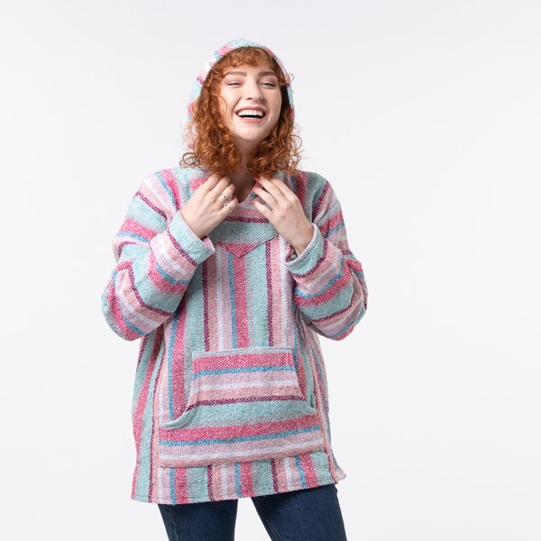 alternate view Womens Baja Poncho - Pastel PinkALT1