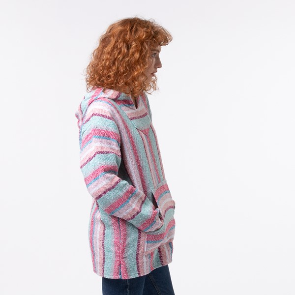alternate view Womens Baja Poncho - Pastel PinkALT2
