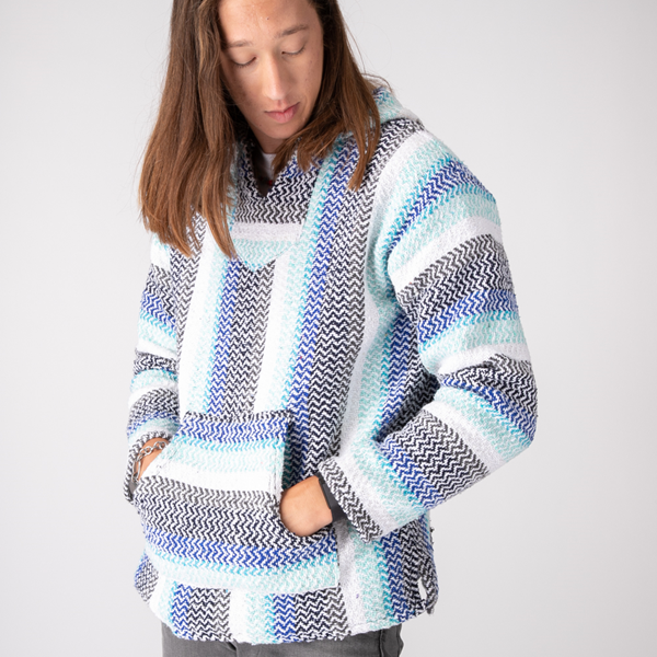 Main view of Mens Baja Poncho - Pistachio