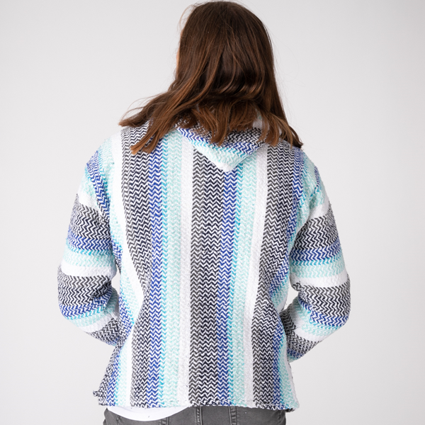 alternate view Mens Baja Poncho - PistachioALT4