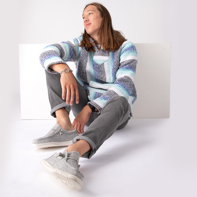 Alternate view of Mens Baja Poncho - Pistachio