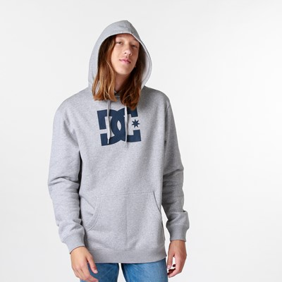 Alternate view of Mens DC Star Hoodie - Heather Gray