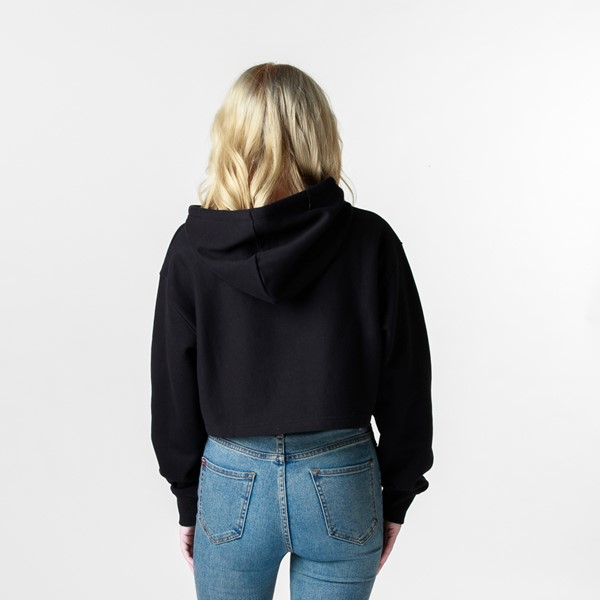 alternate view Womens DC Star Cropped Hoodie - BlackALT1B