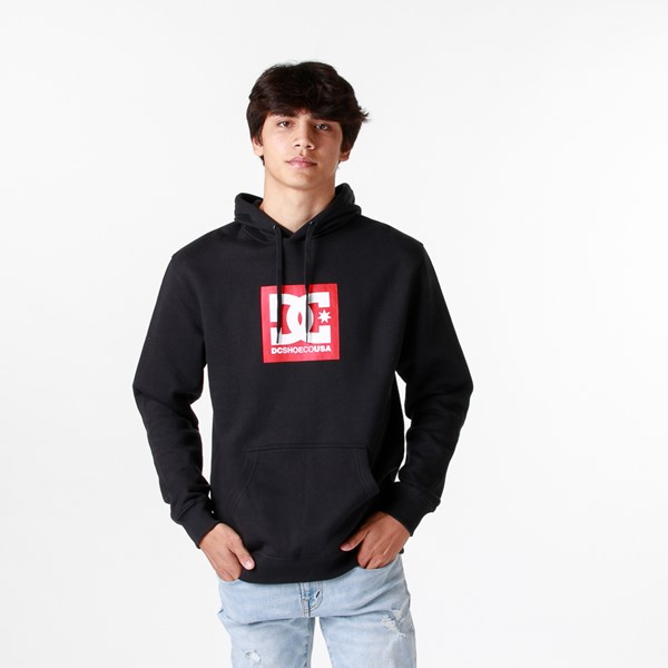 Main view of Mens DC Square Star Hoodie - Black