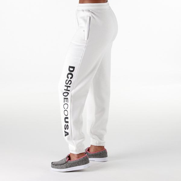 Womens DC Logo Sweatpants - White