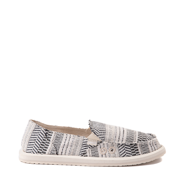 Main view of Womens Sanuk Donna Boho Slip On Casual Shoe - Black / White