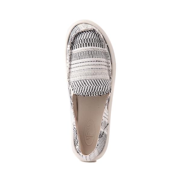 alternate view Womens Sanuk Donna Boho Slip On Casual Shoe - Black / WhiteALT2