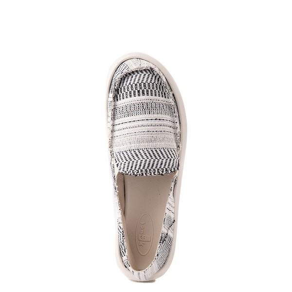 alternate view Womens Sanuk Donna Boho Slip On Casual Shoe - Black / WhiteALT4B