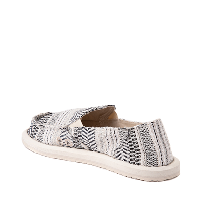 Alternate view of Womens Sanuk Donna Boho Slip On Casual Shoe - Black / White