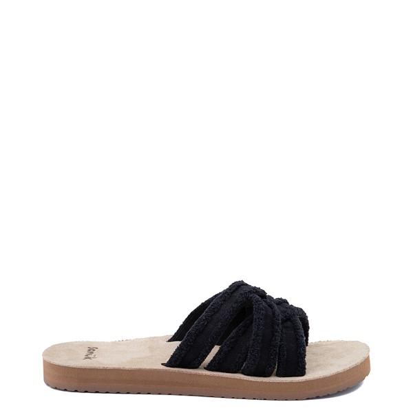 Womens Sanuk Fraidy Slide Sandal - Black