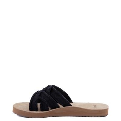 Alternate view of Womens Sanuk Fraidy Slide Sandal - Black