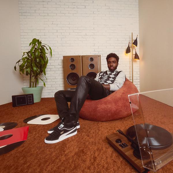 alternate view Mens Puma Suede Athletic Shoe - BlackALT1B