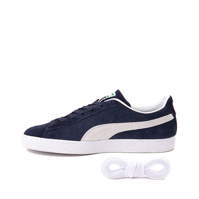 Alternate view of Mens Puma Suede Athletic Shoe - Navy