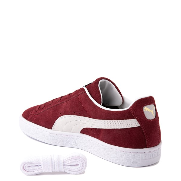 alternate view Mens Puma Suede Athletic Shoe - BurgundyALT1