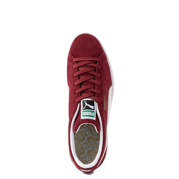 alternate view Mens Puma Suede Athletic Shoe - BurgundyALT2