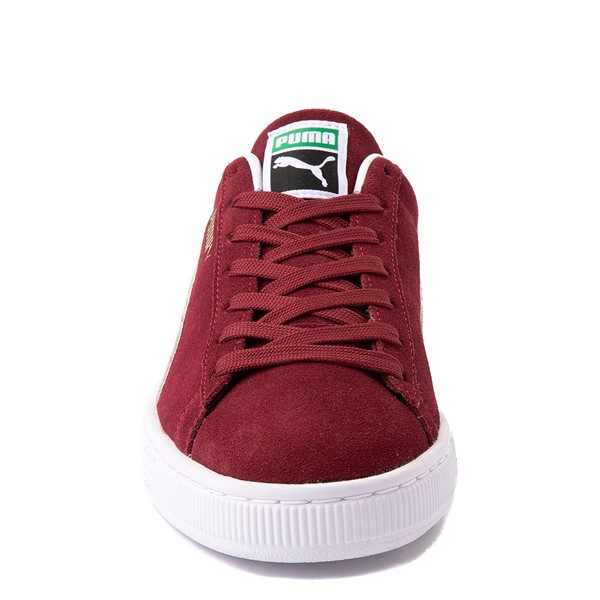alternate view Mens Puma Suede Athletic Shoe - BurgundyALT4