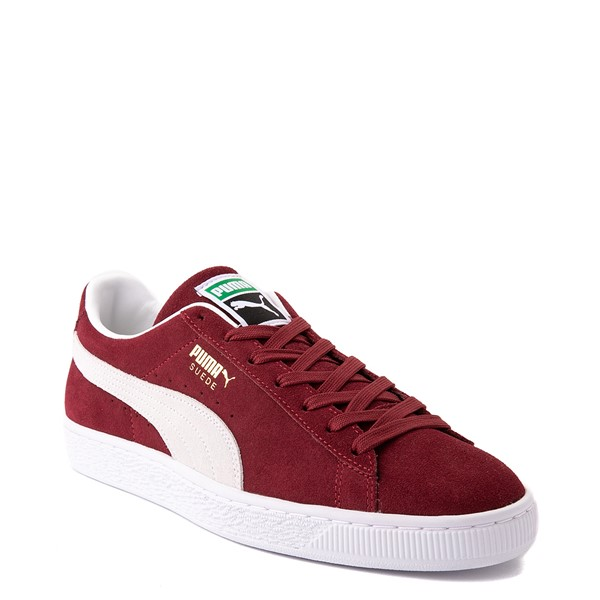 alternate view Mens Puma Suede Athletic Shoe - BurgundyALT5