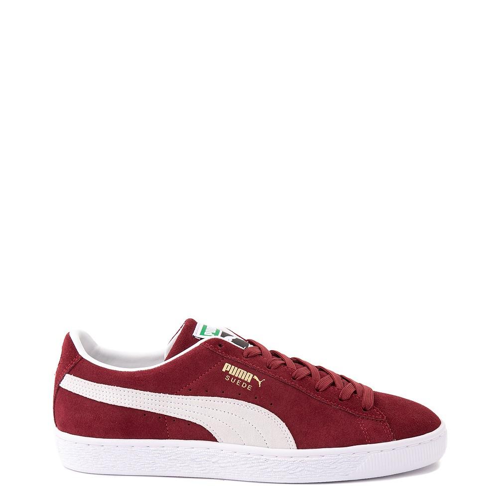 Mens Puma Suede Athletic Shoe - Burgundy