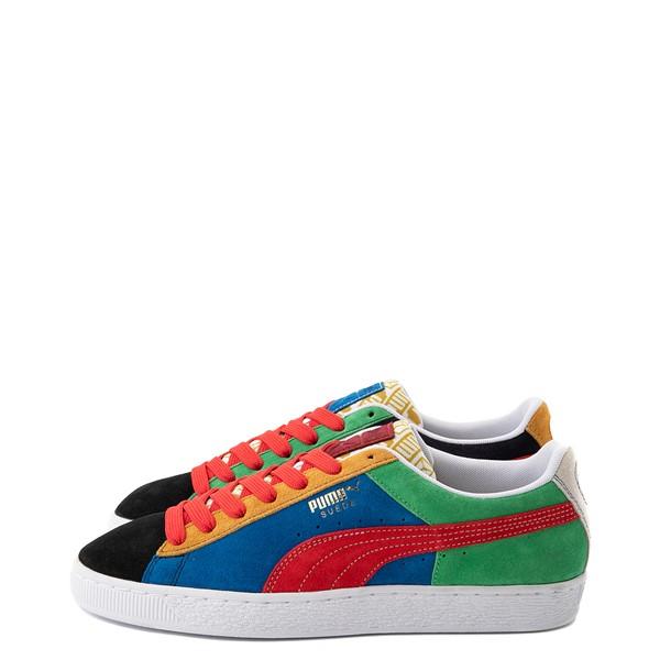 alternate view Mens Puma Suede Iconix Athletic Shoe - MulticolorALT1