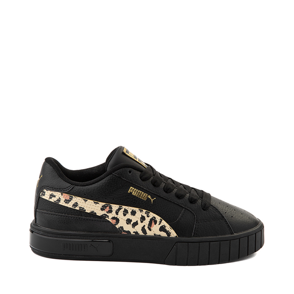 Womens Puma Cali Star Athletic Shoe - Black / Leopard