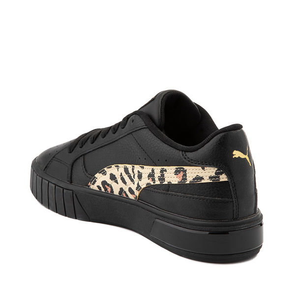 alternate view Womens Puma Cali Star Athletic Shoe - Black / LeopardALT1