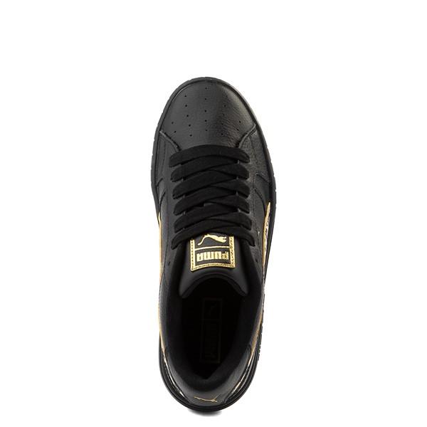 alternate view Womens Puma Cali Star Athletic Shoe - Black / LeopardALT4B