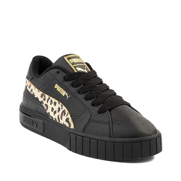 alternate view Womens Puma Cali Star Athletic Shoe - Black / LeopardALT5