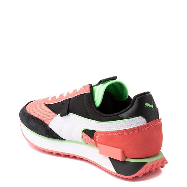 alternate view Womens Puma Future Rider Neon Play Pop Athletic Shoe - Pink / Green / White / BlackALT1