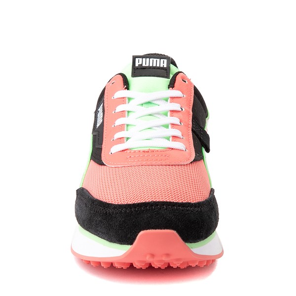 alternate view Womens Puma Future Rider Neon Play Pop Athletic Shoe - Pink / Green / White / BlackALT4