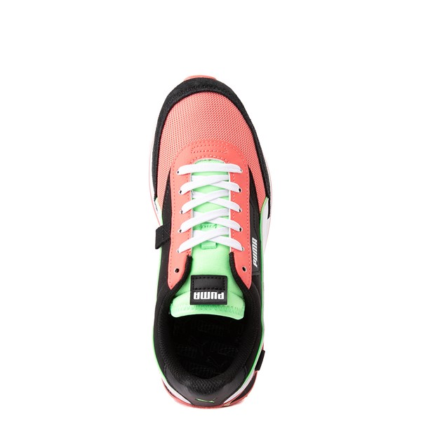 alternate view Womens Puma Future Rider Neon Play Pop Athletic Shoe - Pink / Green / White / BlackALT4B