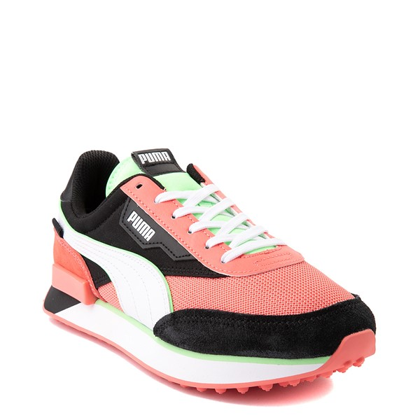 alternate view Womens Puma Future Rider Neon Play Pop Athletic Shoe - Pink / Green / White / BlackALT5