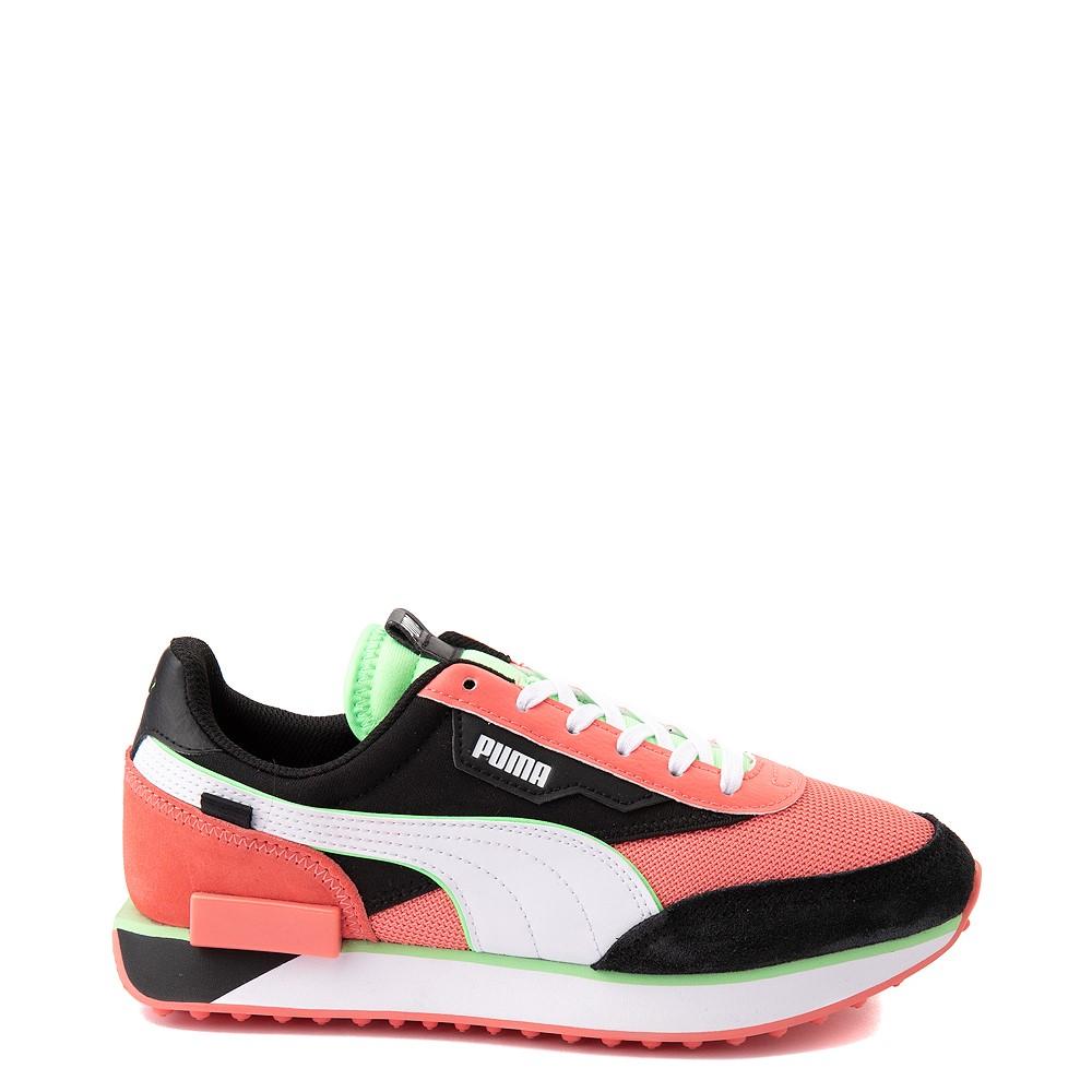Womens Puma Future Rider Neon Play Pop Athletic Shoe - Pink / Green / White / Black