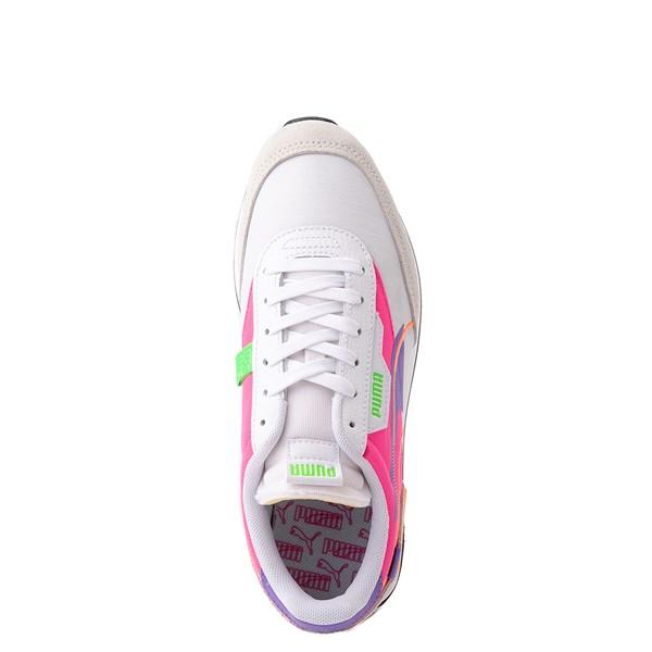 alternate view Womens Puma Future Rider Twofold Athletic Shoe - White / Purple / PinkALT2