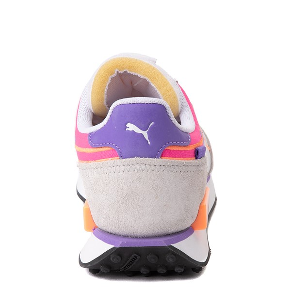 alternate view Womens Puma Future Rider Twofold Athletic Shoe - White / Purple / PinkALT4