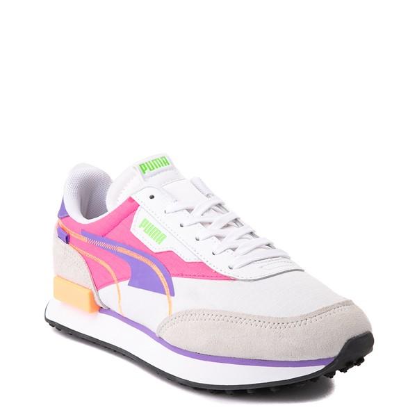 alternate view Womens Puma Future Rider Twofold Athletic Shoe - White / Purple / PinkALT5