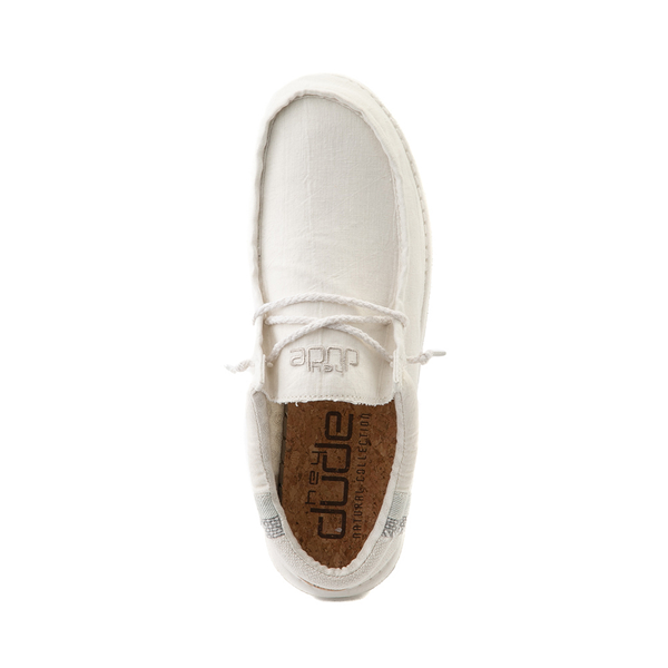 alternate view Mens Hey Dude Wally Casual Shoe - Natural WhiteALT2