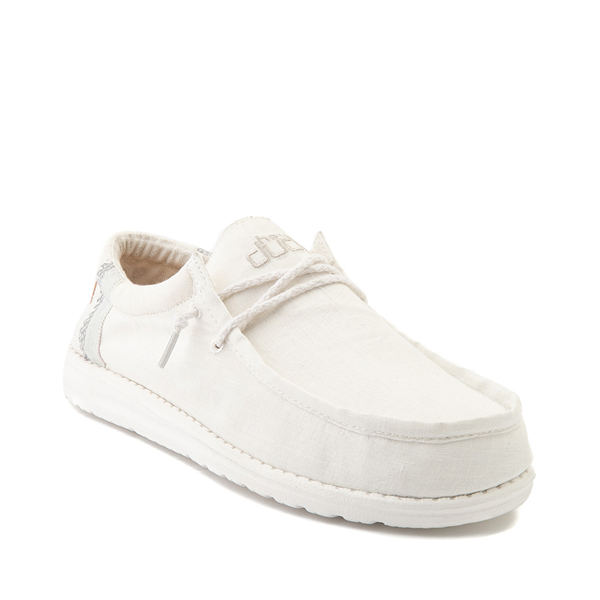 alternate view Mens Hey Dude Wally Casual Shoe - Natural WhiteALT5