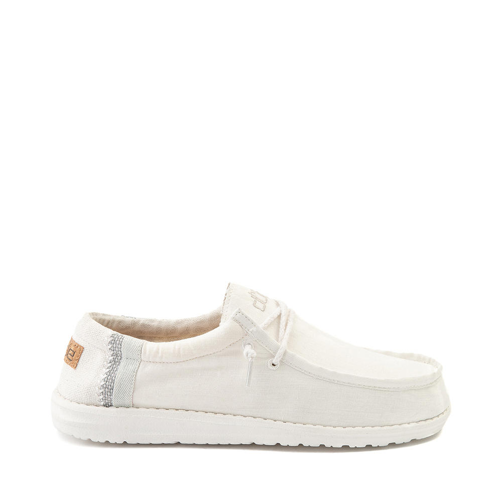 Mens Hey Dude Wally Casual Shoe - Natural White