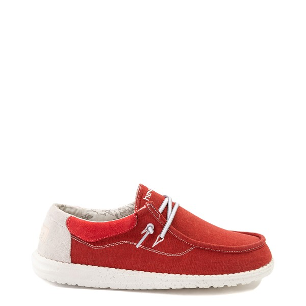 Mens Hey Dude Wally Casual Shoe - Red