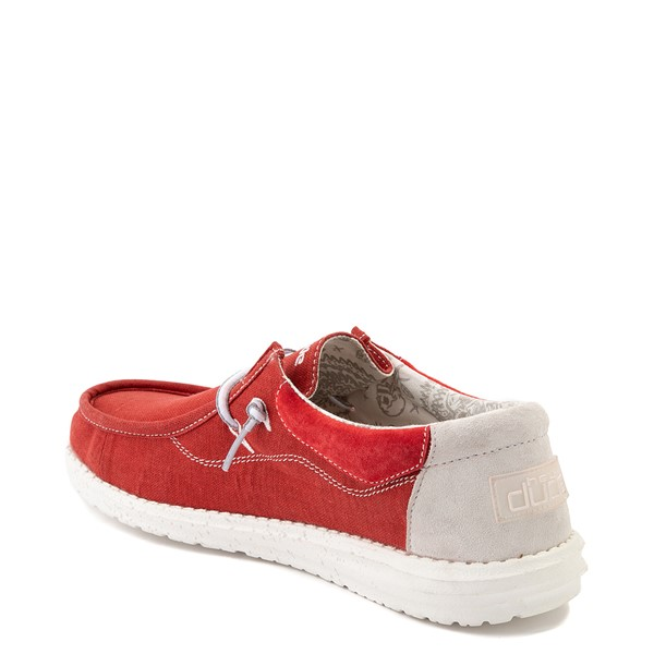 alternate view Mens Hey Dude Wally Casual Shoe - RedALT1