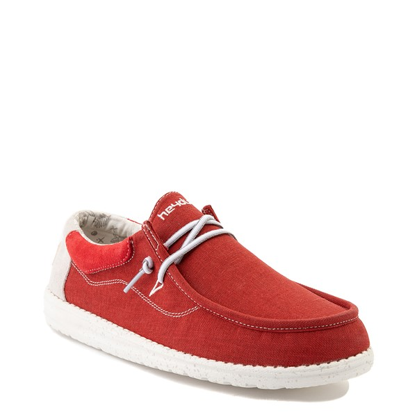 alternate view Mens Hey Dude Wally Casual Shoe - RedALT5